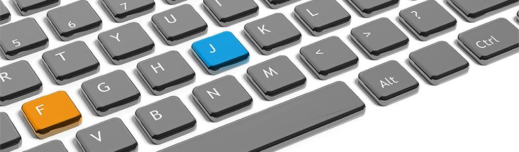Osservate le lettere F e J della tastiera: cos'hanno di diverso?